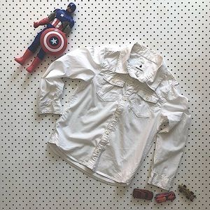 Boys size 6 COUNTRY ROAD Button up white shirt